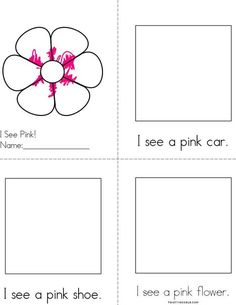 Draw pictures in the boxes. Pink Reader Book from TwistyNoodle.com