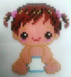 Baby girl  hama beads by eltallerdekurisu
