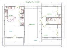 Dogtrot Houses Lonestar Builders Lssm13 Dog Trot Plan 2 Bedroom House Plans