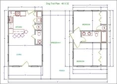 26 x 40 floor plans google search cabin ideas for House plans com classic dog trot style