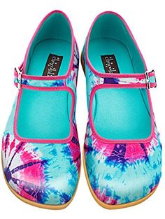 d379d24493 Hot Chocolate Design Chocolaticas Tie Dye Women's Mary Jane Flat  Multicoloured US Size: 9 ❤