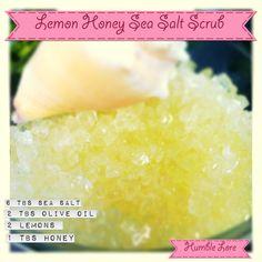 Honey & Lemon Sea Salt Scrub