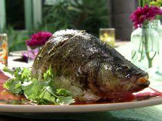 Thai Roasted Green Fish - Whole Bass