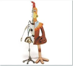 chicken run- puppet made out of Plasticine with a metal armature underneath