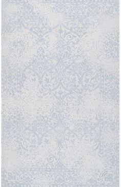 TrebizondVintage Damask Wool Tufted FX04 Rug