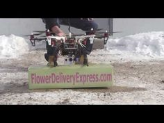 FlowerDeliveryExpress.com, conducted the first known flower delivery by drone. According to Wesley Berry CEO of FlowerDeliveryExpress.com, the delivery occurred in Metro Detroit in the afternoon on Saturday, February 8th, 2014. Visit www.flowerdeliveryexpress.com for more information