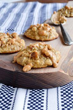 #RECIPE - Peanut Butter Drizzled Banana Walnut Cookies