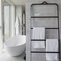 New Bath Hardware from Norm Architects: The Towel Ladder and More - Remodelista