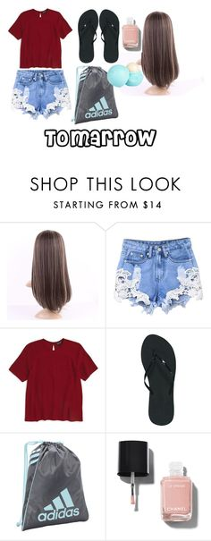 """""""Tomarrow"""" by izzybellah-1 on Polyvore featuring Topshop, Reef, adidas, Chanel and River Island"""