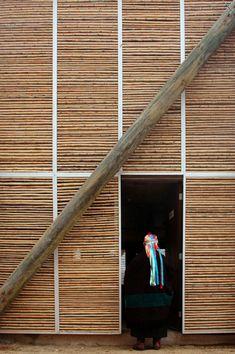Chile constrói casas de alvenaria e bambu para população indígena - Arcoweb