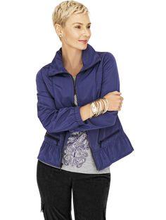 Zenergy® Lolly Solid Peplum Jacket #Zenergy #WildAbout30 #chicos