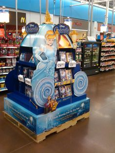 Disney Cinderella Full Pallet Display