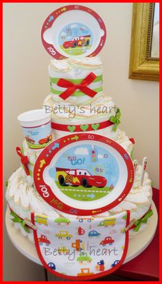 Torte di Pannolini Betty's heart - Diaper Cakes