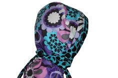 Surgical Scrub Hat Chemo Chef Cap Ponytail Purple Lilac Blue Black Flower Giraffe * Click image for more details. (Amazon affiliate link)