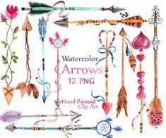 Gráfico de flechas Acuarela: Flechas CLIP ART por LeCoqDesign