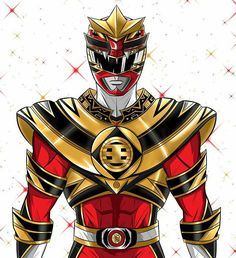 Jason, the Red Tyranno Gold Ranger - Artist: Tinh Hung Vo Tran #∆∆shani
