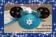 Custom Elsa Mickey Ear Hat by Happily Ever Hatter!  Inspired by Disney and Frozen!