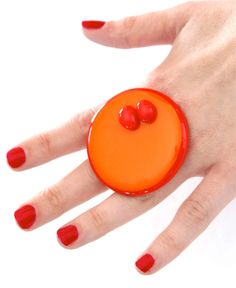 Big Statement Cocktail Ring Glass   bold oversize