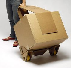 By Andrew Liszewski Currently up for a much deserved James Dyson Award, David Graham's Move-it . Read more Move-it Concept Is A Recyclable Cardboard Trolley