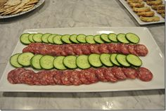 Cocktail Party Idea - Cucumber slices and salami