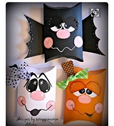 Bat, ghost, Pumpkin pillow box