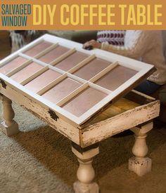 Salvaged Window Diy Coffee Table