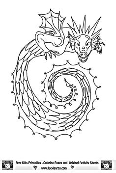 Dragon Age Adult Coloring Book Awesome Dragons From Fairy Books Drawings Belle Coloring Pages, Cinderella Coloring Pages, New Year Coloring Pages, Free Adult Coloring Pages, Flower Coloring Pages, Coloring Pages To Print, Colouring Pages, Coloring Sheets, Coloring Books