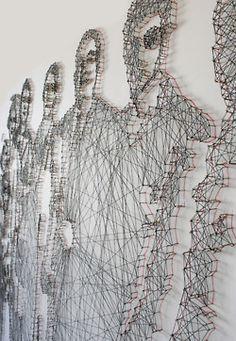 thread and nail portraits