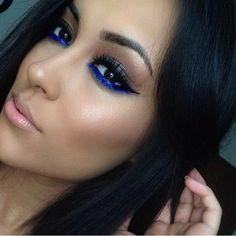 So pretty! Cobalt blue lower liner
