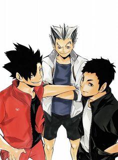 Haruichi Furudate, Production I.G, Haikyuu!!, Koutarou Bokuto, Tetsurou Kuroo, daichi sawamura 10/10 would bang Kuroo and Daichi