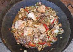 Quierocompartir una deliciosa receta de pollo al disco con vino y champiñones. Otra forma de ejecutar una receta de pollo, para ampliar en este rubro de recetas vinculadas al disco de arado transf…