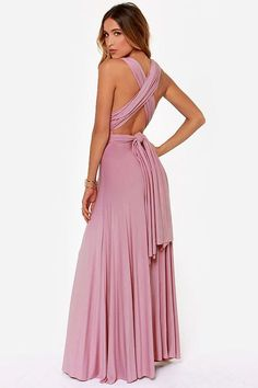LULUS Exclusive Tricks of the Trade Mauve Maxi Dress at LuLus.com!