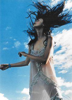 witchesandslippersandhoods:    John Galliano chiffon slip dress, photographed by Tim Walker, 1998