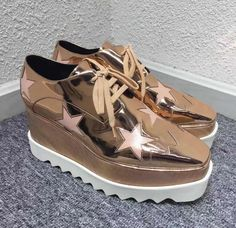 Women's Lace Up Stars Wedge Platform Creepers Square Toe Casual Hot Shoes in Clothing, Shoes & Accessories, Women's Shoes, Heels Platform Creepers, Punk Shoes, Hot Shoes, Stella Mccartney Elyse, Lace Up, Wedges, Stars, Heels, Womens Fashion