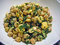 Chickpea & Lima Bean Salad