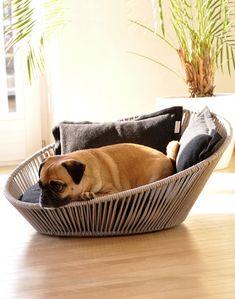 Cesta para que el perro esté cómodo en casa y decorar la casa bien bonita  www.perronality.com