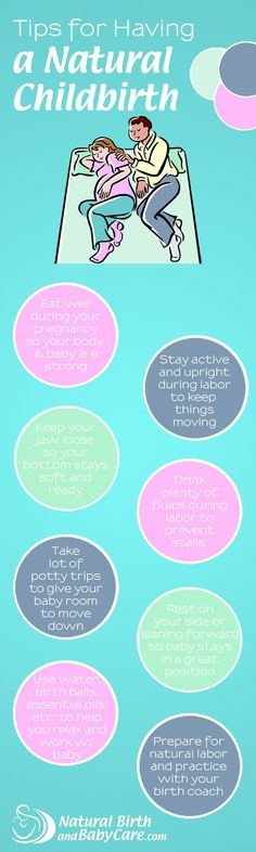 Tips for a natural childbirth - these help when the going gets tough!