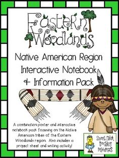 Eastern Woodlands Native Americans ~ Posters, Project Idea and Interactive Notebook pages $