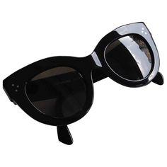 black Plain CÉLINE Sunglasses - Vestiaire Collective