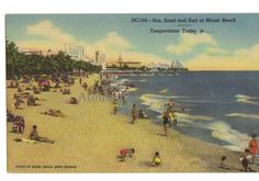 Miami Beach, Florida.  Nice postcard from United States. Contact us for price.