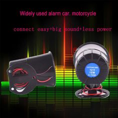 6 tone loud security alarm siren horn car van truck 12v with 150cm cable cigarette power