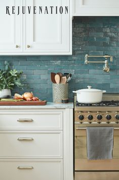 We're here to help you renovate or refresh your space—find everything you need to start your kitchen project. From solid brass cabinet hardware to kitchen faucets to pot fillers, our designs come in coordinating finishes so you can create a cohesive kitchen. Choose from a range of beautiful style and finish options, including vintage-inspired aged brass lighting and hardware, modern polished nickel lighting and hardware, and more. Kitchen Redo, Home Decor Kitchen, Kitchen Backsplash, New Kitchen, Home Kitchens, Kitchen Dining, Kitchen Remodel, Kitchen Cabinets, Kitchen Faucets
