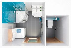 panelákové koupelny - Hledat Googlem Small Apartments, Small Bathroom, Bathrooms, Sweet Home, Bathtub, Cabinet, Cool Stuff, Storage, Interior