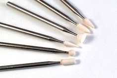 Glass engraving and Egg Carving tools, White Arkansas stones for smoothing by Eternal Tool.  http://www.eternaltools.com/white-arkansas-stone-burrs/