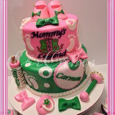 AKA baby shower cake #followprettypearlsinc AKA 1908