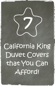 7+ California King Duvet Cover options that you can afford!
