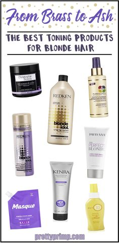 Need to keep your cool toned blonde hair looking fresh, ashy, and bright? Check out these products with formulas specifically designed to tone blonde hair!