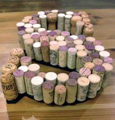 Wine cork letter