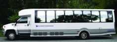 Motor Coaches by J&J Luxury Transportation: the outside of our shuttle bus.