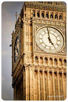 Big Ben at Westminster Palace, London, England